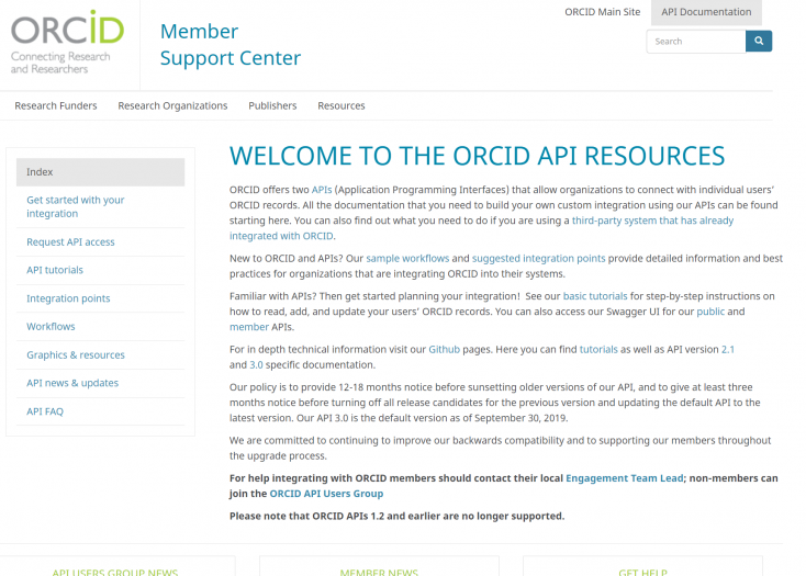 ORCID OAuth integration and implementation