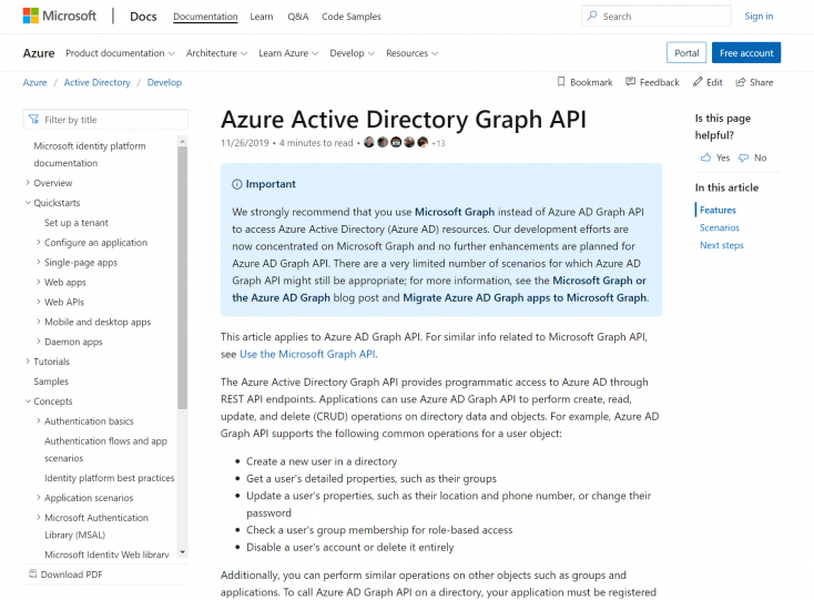 Azure Active Directory Identity implementation